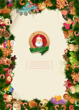 Santa & friends - christmas background