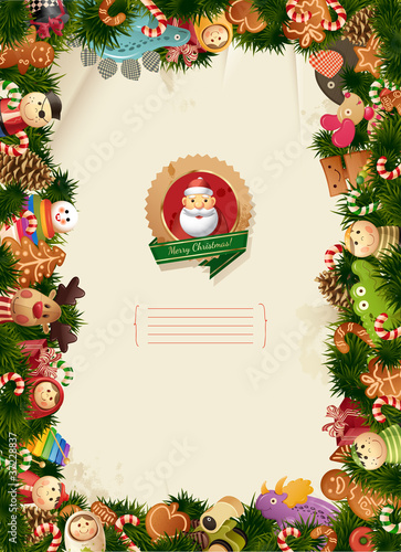 Santa & friends - christmas background - 37228837