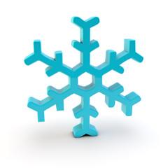 schneeflocke snowflake 3d