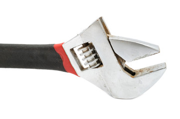 Adjustable Wrench (Spanner) on White Background