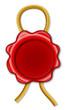 Siegel mit goldener Kordel