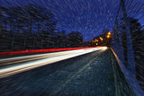 snowing light trails