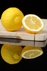 lemon on a table