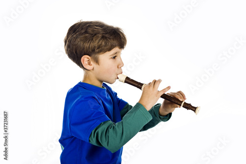 The kid and a flute