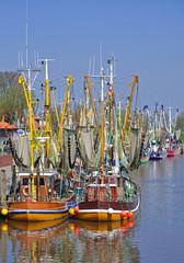 im Hafen vom bekannten Fischerort  Greetsiel