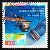 Postage stamp Germany 1991 European Remote Sensing Satellite poster