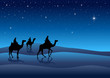 Silhouette illustration of Three Kings from the East - 37233644