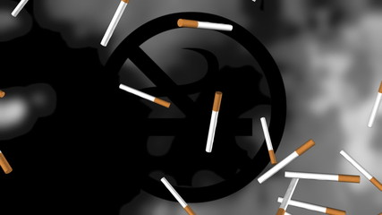 No Smoking Looping Animation