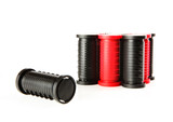 red and black curlers