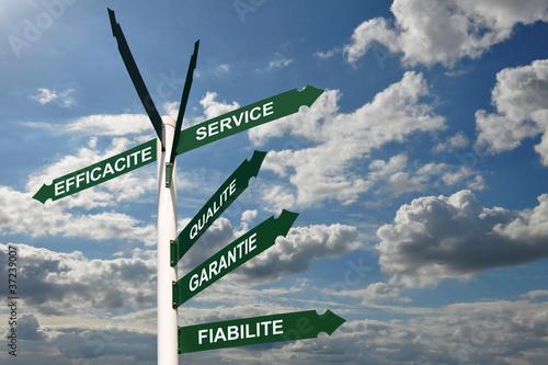 Panneaux qualité efficacité service