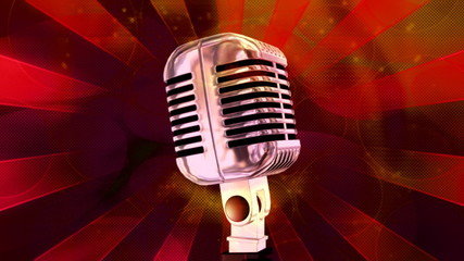 Microphone Retro Looping Background