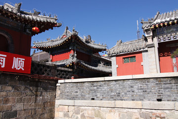 temple on the top plateau of mount taishan
