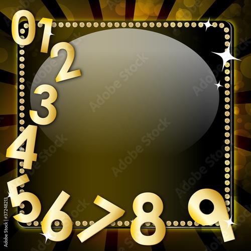 schwarzes schild mit nummern