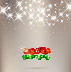 Elegant Christmas background with shiny stars and place for text