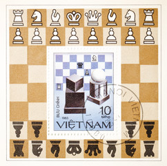 postage stamp dedicated to Chess