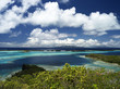 Bora Bora Lagoon with Raiatea and Tahaa in Background