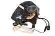 retro fasion pilot helmet with goggles