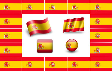 Spain flag icon set
