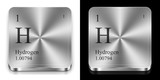 Hydrogen, two metal web buttons poster