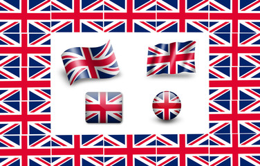 united kingdom flag icon set UK