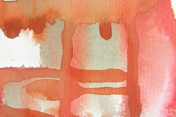 Red Orange & White Watercolor 2