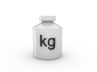 3d Rendering Gewicht kg