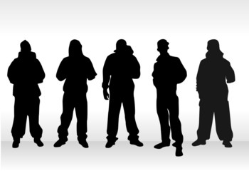 groupe hommes en jogging