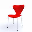 3D Designer Stuhl rot silber