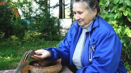 Женщина и бурундук (chipmunk)