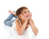 Fototapety Lying little girl