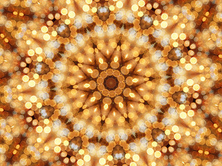 Mosaic kaleidoscope of circular lights