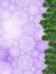 Thank you card on a bright christmas card. EPS 8
