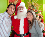 Couple with Santa Claus