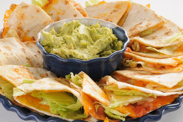 Quesadillas close up