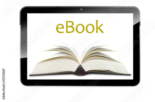 Tablet mit E-Book