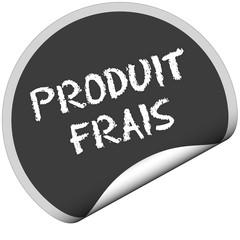 TF-Sticker rund curl unten PRODUIT FRAIS