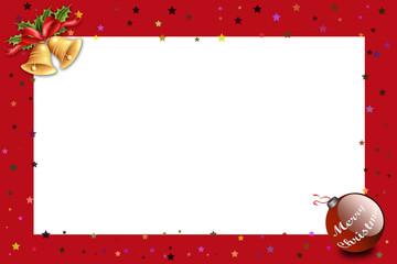 Weihnachtskarte mit Rahmen