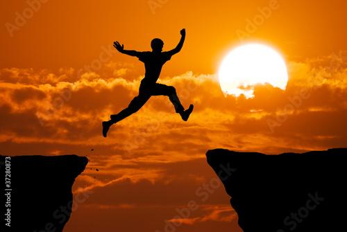 Fototapeten,silhouette,sprung,springen,himmel