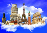 Travelling in Europe background