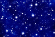 blue twinkle star background
