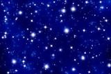 blue twinkle star background poster