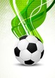 Bright green background with ball
