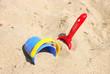 Leinwanddruck Bild - Sandspielzeug