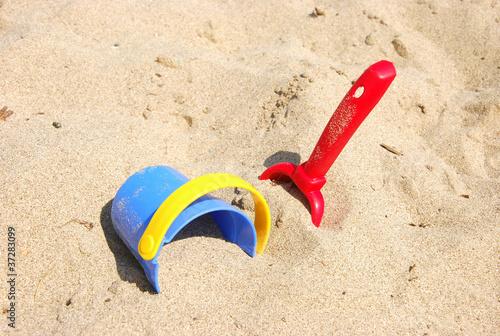 Leinwanddruck Bild Sandspielzeug