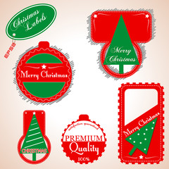 Christmas labels | stikers. Vector illustration.
