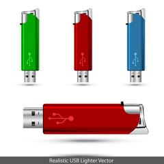 USB lighter concept. Vector illustration.