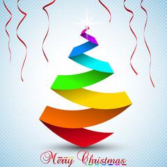 Multicolor Christmas tree.