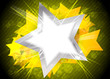 Bright background with yellow star