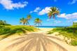 The beautiful tropical beach of Varadero in Cuba