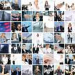 Great collage of 250 different business photos